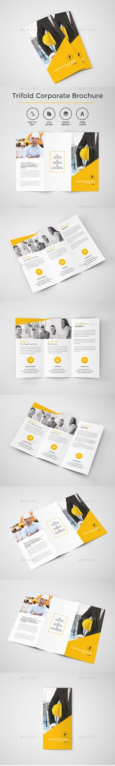 Premium Trifold Corporate Brochure Template #design Download: http://graphicriver.net/item/trifold-corporate-brochure/13124388?ref=ksioks