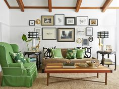 Safari Chic Living Room // #hgtvmagazine http://www.hgtv.com/design/decorating/design-101/a-classic-spin-on-quirky-decorating-pictures?soc=pinterest