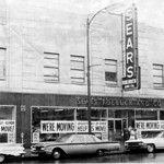 1967: Sears Roebuck and Co. just before moving to Midway Mall. (Photo courtesy of the Lorain County Historical Society.)