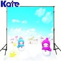 2M*1.5M(6.5Ft*5Ft) Kate Snow Backdrops Photo Studio Floor The Scarf Snowman Stars Christmas Backgrounds Zz S-183