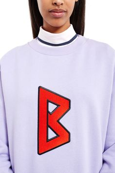 Back, Logo Sweatshirt , Unisex style, Logo B patch, Round neck, Ribbed collar, cuffs, and sleeves, 100% cotton, Imported
