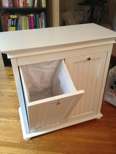 Built: Bought this double hamper to use as a recycler in my kitchen. The bins are small, so it might work well as a clothes hamper for a baby, but it will be perfect for paper, cans and bottles. :)