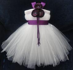 Plum Purple Flower Girl Dress by StrawberrieRose on Etsy, $89.95