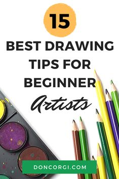 Here are 15 of the best drawing tips for beginner artists. These are my best tricks and tips to help improve your artwork as an artist. Drawing Tutorials For Beginners, Drawing Course, Drawing Tips, Cool Drawings, Improve Yourself, I Am Awesome, Corgi, Artists, Artwork