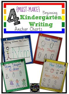 Do you love and use anchor charts as much as I do? Then you are going to love these Must Make Kindergarten Anchor Charts! Why anchor charts in Kindergarten? I use anchor charts almost every day a Beginning Of Kindergarten, Kindergarten Anchor Charts, Writing Anchor Charts, Kindergarten Centers, Beginning Of School, Kindergarten Reading, Kindergarten Classroom, Classroom Ideas, Kindergarten Writers Workshop