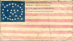 """Then conquer we must, when our cause is just, And this be our motto """"In God is our trust,"""" And the Star-spangled Banner in triumph shall wave, O'er the land of the free and the home of the brave."""