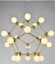 Nordic Modern Chandelier Light Magic Bean Bronze Chandelier Creative  Bedroom Villa Chandelier Lighting included Bulb 20 Head #Affiliate