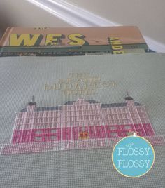 This Sew Flossy Flossy counted cross stitch pattern features the setting from The Grand Budapest Hotel (2014) written and directed by Wes