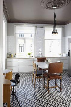 Kitchen - Backsplash & Floors of Handmade Cement Tile by Original Mission Tile