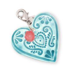 Simply love hanger seafoam - €19,50 #applepiepieces #mint #heart #love #pendant #jewelry
