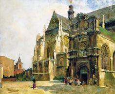 Evariste Carpentier ~ Belgian Luminist painter