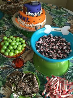 Flintstone Candy buffet