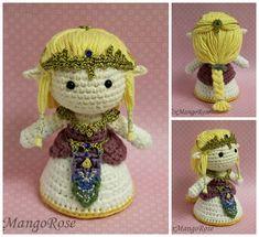 Zelda Amigurumi Doll Plush by xMangoRose.deviantart.com on @deviantART