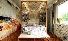 Interior design solution for a 2 bedroom apartment in Cluj, Romania // Design & visualization by ETAJ4