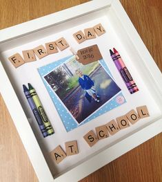 First day at school gift photo frame