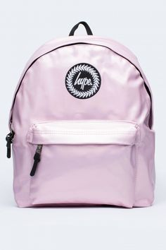 HYPE BABY PINK HOLOGRAPHIC POLKA BACKPACK