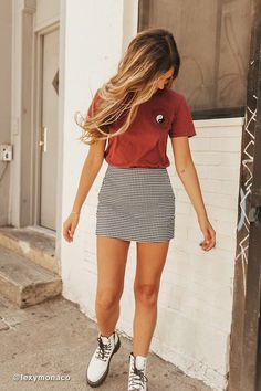 trendy outfits for summer ~ trendy outfits . trendy outfits for school . trendy outfits for summer . trendy outfits for women . Teenage Outfits, Teen Fashion Outfits, Girly Outfits, Mode Outfits, Cute Outfits With Skirts, Teen Girl Outfits, Cute Outfits For Teens, Mini Skirt Outfits, Cute Skirts