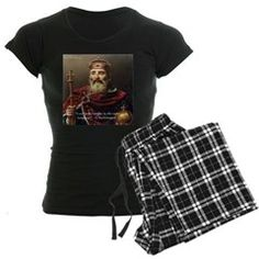 Womens #Pajamas @cafepress @RLondonDesigns #Charlemagne & #laughter #Quote 15%off Code HEART15 @C/O #sleepwear #history #gift #sale