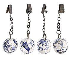 Set de 4 pesos sujeta manteles de cerámica May