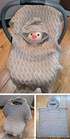 Baby Knitting Patterns Free Knitting Pattern for Baby Poncho Blanket - Little Mouse...