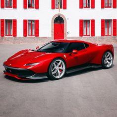 """Ferrari が特別な顧客のために1台限りで製作したワンオフモデル SP38 を発表: 世界に1台しか存在しない""""赤い跳ね馬""""をチェック"""
