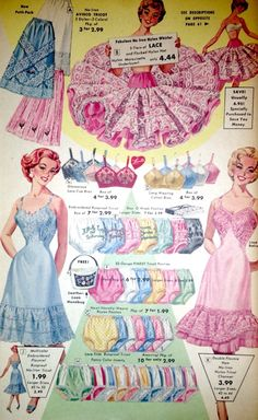 Lacey, frilly, and girly. Perfection. #vintage #lingerie #vintageads