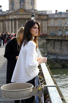 03.06.15: Kendall at the Notre-Dame cathedral with Gigi