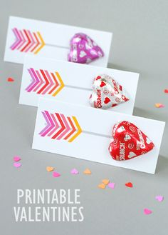 Printable arrow valentines - just add candy hearts
