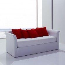 Letto ad uso divano Leon - versione Divano con Braccioli