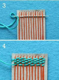DIY crafts for kids - miniature weaving. I remember making these as a kid with old baseball cards and scrap yarn. Diy Crafts For Kids, Fun Crafts, Arts And Crafts, Kids Diy, Montessori Activities, Craft Activities, Montessori Education, Diy Niños Manualidades, Do It Yourself Inspiration
