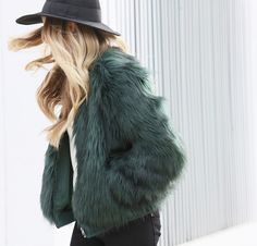 My favorite winter piece this year has been this faux fur green beaut of a jacket… I'm all about the easy wow statements these days and this coat is doing it for me because what is more fun than a fur jacket? a colored (faux) fur jacket of course! I wear this baby running errands …