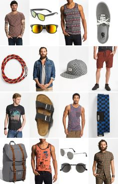 Coachella for dudes: Peace, love and tank tops: our music festival checklist for guys. Summer Music Festivals, Music Festival Outfits, Festival Fashion, Coachella Men, Coachella Style, Festival Checklist, Outfits Hombre, Summer Tank Tops, Festival Looks