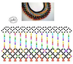 Diy Necklace Patterns, Jewelry Patterns, Native Beading Patterns, Bead Loom Patterns, Beaded Jewelry Designs, Seed Bead Necklace, Handmade Beads, Bead Crochet, Beading Tutorials