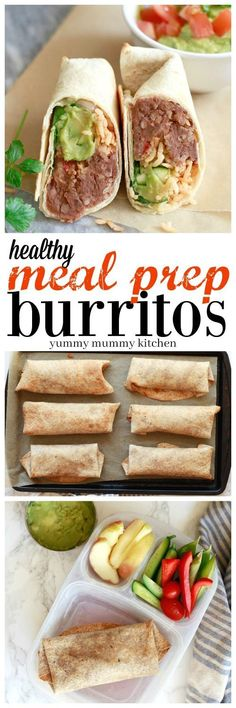 Make Ahead Bean and Rice Burritos 2019 Healthy make ahead bean and rice burritos are perfect for easy vegetarian packed lunches. Find out how meal prep and freeze burritos. The post Make Ahead Bean and Rice Burritos 2019 appeared first on Lunch Diy. Vegetarian Meal Prep, Lunch Meal Prep, Healthy Meal Prep, Healthy Drinks, Healthy Snacks, Vegetarian Recipes, Healthy Eating, Healthy Recipes, Meal Prep For Vegetarians