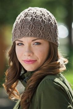 Intermediate crochet hat pattern for interesting stitch.
