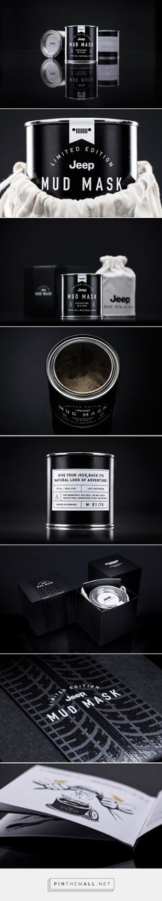 Jeep Mud Mask limited edition packaging designed by Parasol Island (Germany) - http://www.packagingoftheworld.com/2016/02/jeep-mud-mask.html