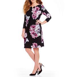 Calvin Klein Plus Size Floral Print Shift Dress Ann Taylor Loft Dresses, Chiffon Material, Print Shift, Chiffon Dress, Fit And Flare, Calvin Klein, Floral Prints, Cold Shoulder Dress, Plus Size