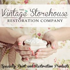 Create your own Chalky Paint Powder and Antique your paint finishes, with products from the Vintage Storehouse Restoration Co.