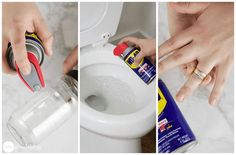 hacks tips \ hacks ; hacks tips ; Car Cleaning Hacks, Toilet Cleaning, House Cleaning Tips, Cleaning Schedules, Cleaning Walls, Cleaning Recipes, Wd 40 Uses, Home Helpers, Sticker Removal