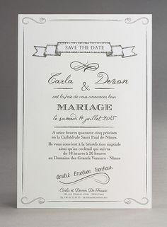 faire part de mariage vintage pop blanc personnages faire part - Texte Faire Part Mariage Urne