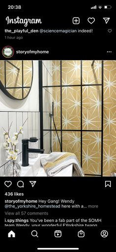 Bathroom Ideas, Mirror, Instagram, Mirrors, Decorating Bathrooms