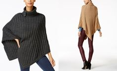 MICHAEL Michael Kors Ribbed Poncho - Black Friday Preview Specials - Handbags & Accessories - Macy's