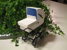 Mine dukkehuse: Hvid barnevogn