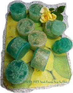 Ο ΝΕΡΑΙΔΟΚΗΠΟΣ της Eλενης-Aντζελινας!/Χειροποιητα σαπουνια-καλλυντικα/ΕLENI'S FAIRY GARDEN: HAPPY FEET Scrub Energy Soap by Eleni