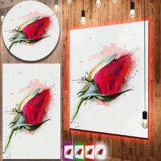 nice Designart 'Red Rose Bud Watercolor Sketch' Flowers Metal Wall Art Check more at http://hasiera.co.uk/s/furnishings/product/designart-red-rose-bud-watercolor-sketch-flowers-metal-wall-art/