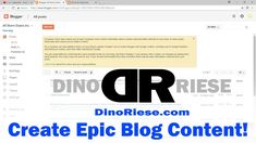 What content to place on google Blogger | DinoRiese.com