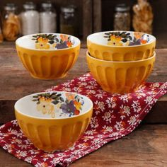 """The Pioneer Woman 5.75"""" Latte Bowl Set, 4-Pack 2016 Autumn Fall Line - I think I'm in love with half of the items in this line."""