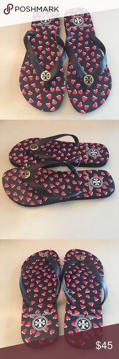 NEW! Tory Burch Flip Flops NWT! Perfect for spring! Adorable Tory classic flip flops. No Trades and All Reasonable offers accepted! Tory Burch Shoes Sandals