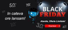 In cateva ore lansam Black Friday! 😎Ramai pe aproape si hai sa vezi lista cu o parte din Reducerile Black pe care ti le-am pregatit! 😉 #blackfriday #reduceriblackfriday #BF #reduceriblack #ofertebf #oferteblackfriday