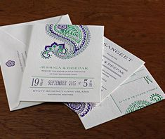 Regency is our newest paisley wedding invitation  | Invitations by Ajalon | http://invitationsbyajalon.com/
